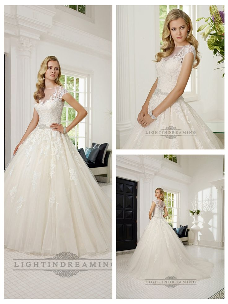 Short Sleeves Illusion Boat Neckline A-line Lace Appliques Wedding   Dresses http://www.ckdress.com/short-sleeves-illusion-boat-neckline-aline-lace-  appliques-wedding-dresses-p-502.html  #wedding #dresses #dress #lightindream #lightindreaming #wed #clothing   #gown #weddingdresses #dressesonline #dressonline #bride