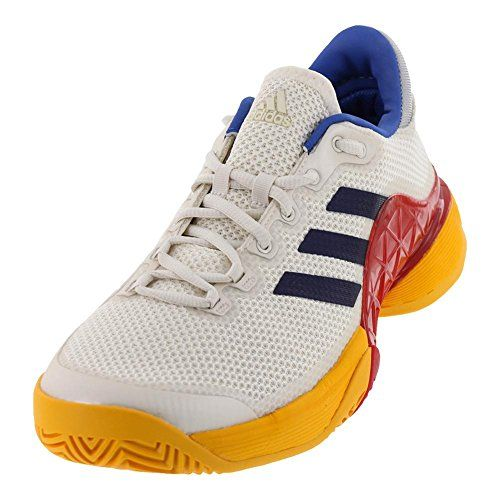 1c22f6d22 ADIDAS S81004F17 Mens Barricade 2017 Pharrell Williams Tennis Shoes Scarlet  and Chalk White   Click for Special Deals  AdidasFashion