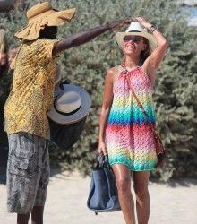 The beach style Sylvie van der Vaart looking very hot