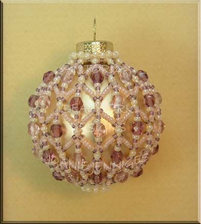 Beaded Christmas Ornament Pattern:  Victorian ornament pattern ~ Beadwork Designs by Joanie Jenniges