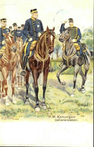 Kong Oscar ll Sign. G. Bagge - H.M. Konungen Generalstaben - St. 1901