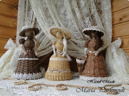 Поделка изделие Плетение Три девицы под окном   Бумага газетная Трубочки бумажные фото 2