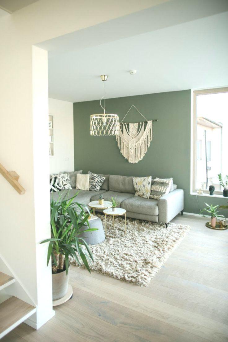 wohnzimmer mit gruner wandfarbe  Wandfarbe grün, Wohnzimmerfarben