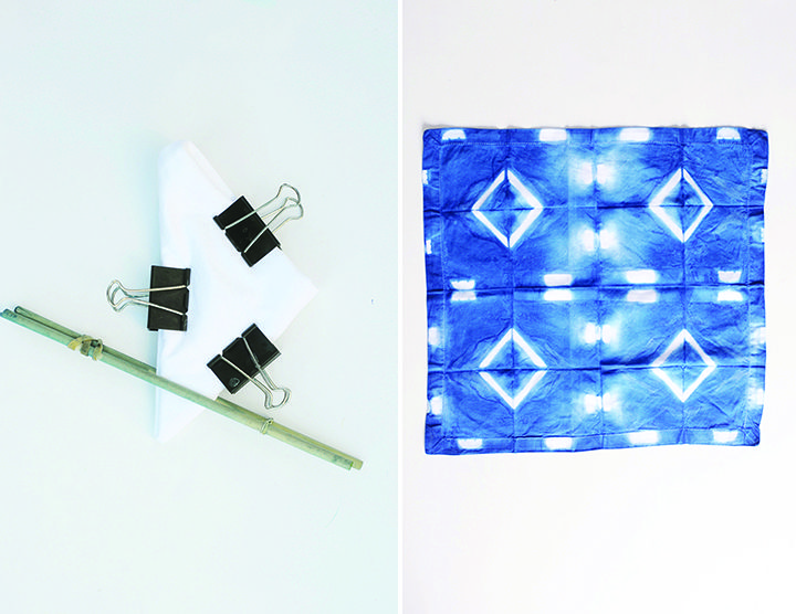 DIY Shibori Indigo Dish Towels Tutorial