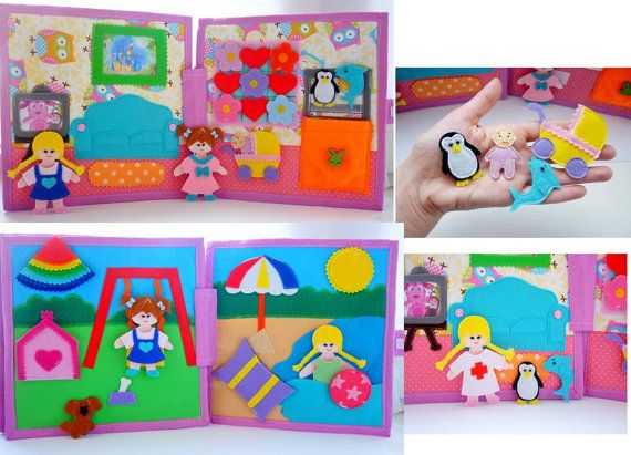 Dollhouse book busy book quiet book toddler by HappyMumToys