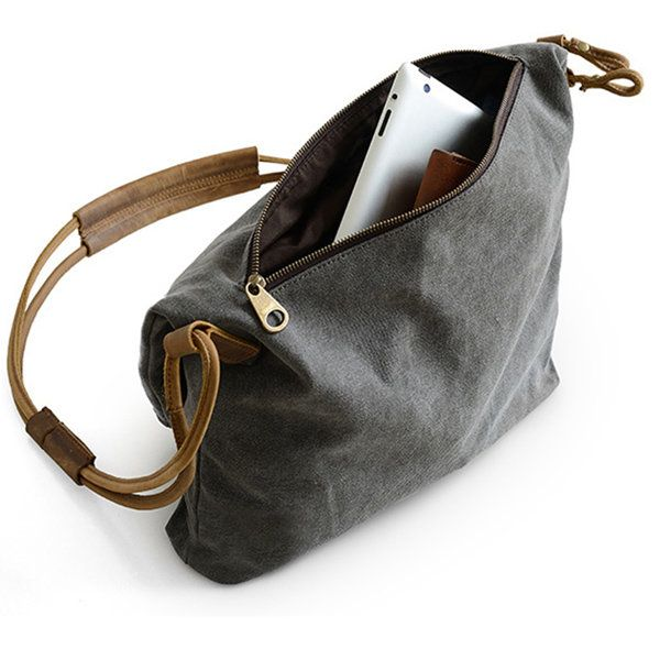 Hot-sale designer Women Vintage Messenger Bag Genuine Leather Canvas Crossbody Bag Tribal Rucksack Online - NewChic