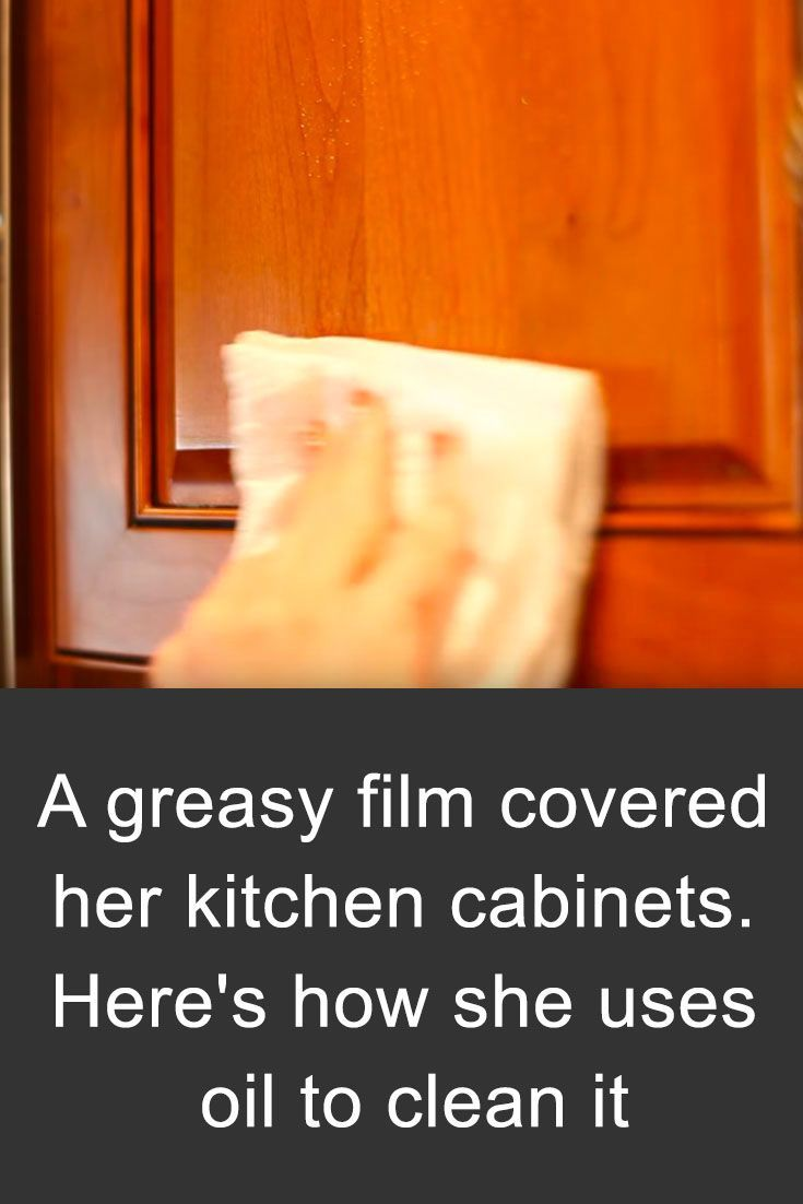 A Greasy Film Covered Her Kitchen Cabinets Here S How She Uses Oil To Clean It Mason Jar Diy Mason Jar Decorations Diy Hanging