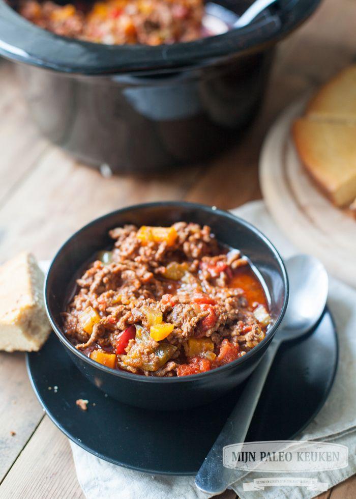 Chili uit de crock-pot (met pompoen)