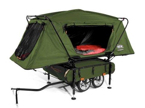 Kamp-Rite Bicycle Tent Trailer - This would take a cycling trip to a whole new adventure!