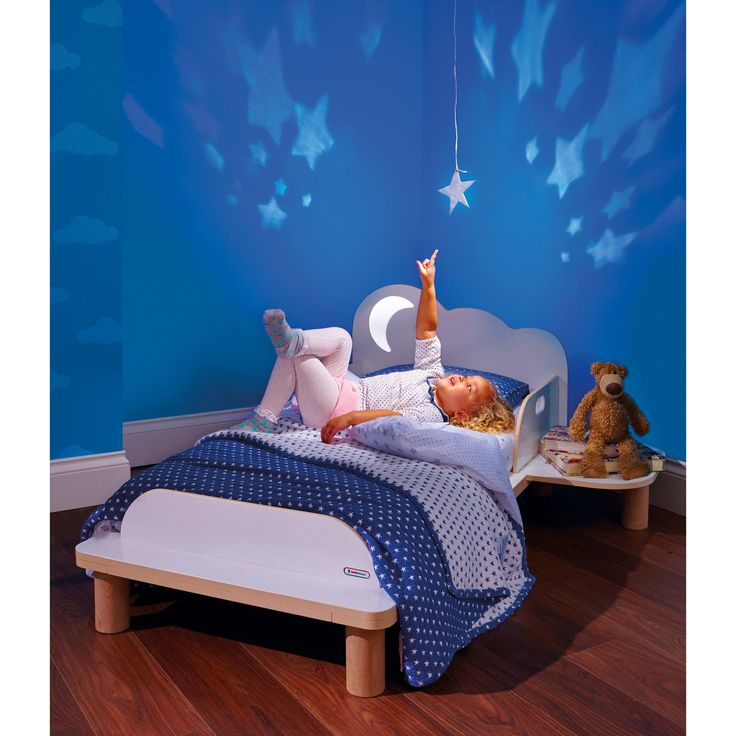 Hello Home StarBright Kids Convertible Toddler Bed With Night Light Projector