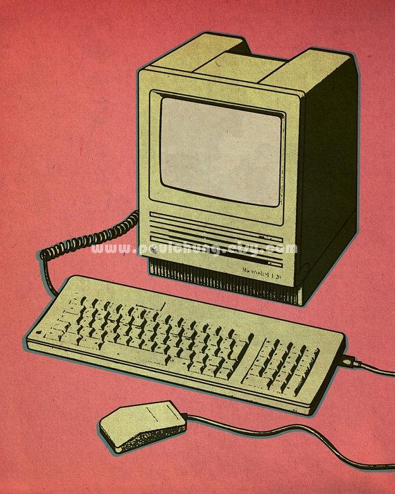 Apple Macintosh SE/30 Illustration Print