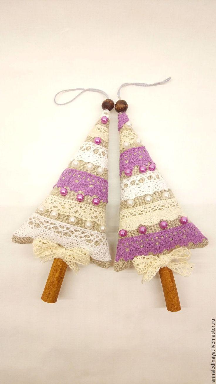 Купить Елочки подвески текстильные, елочный декор - елочные игрушки, елочные украшения, елочный декор