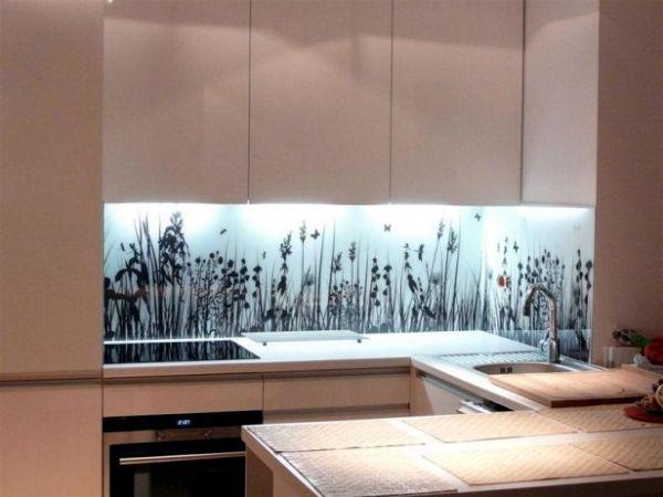 20 Design Ideas For Kitchen Glass Back Wall And The Best Types Of Glass Glass Splashbacks Kitchen Glass Kitchen Home Design Diy
