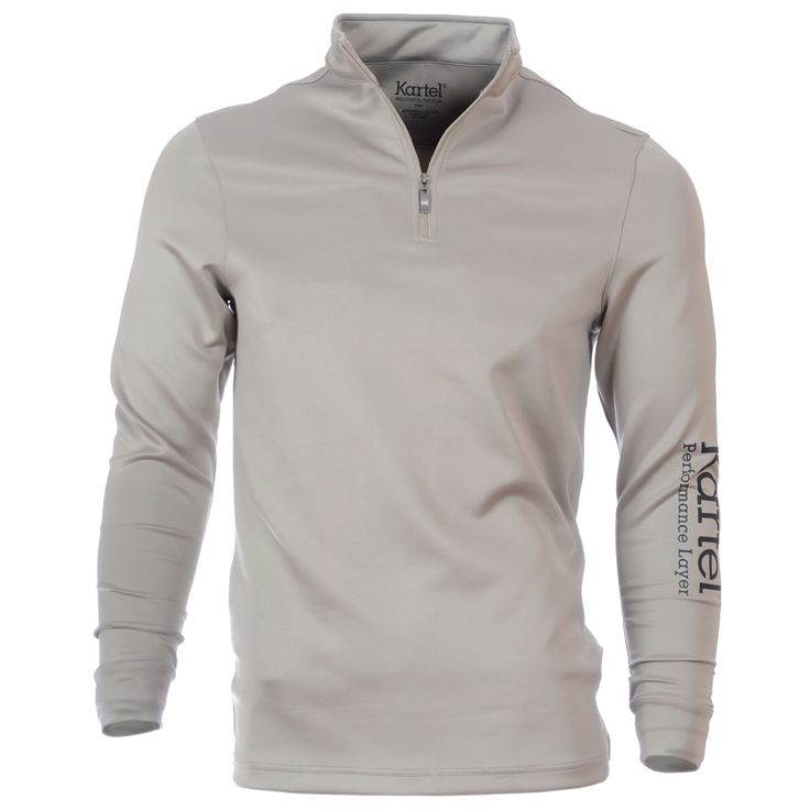 #Golf performance underlayer with 1/4 zip collar. Kartel branding on sleeve