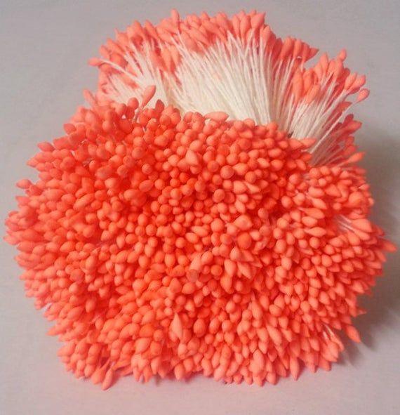 Size spacial length 8 cm Artificial Stamen Carpel 2000 Heads1000 Pcs Dark fuchsia Millinery Flower Stamens. Water Droplets Shape
