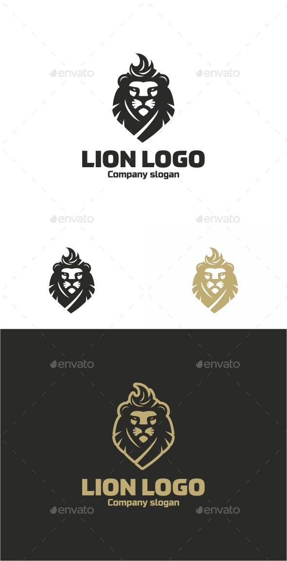 Lion Logo Template #design #logotype Download: http://graphicriver.net/item/lion-logo/12530183?ref=ksioks