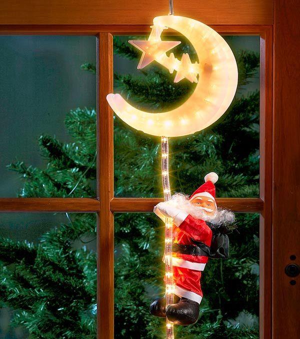 Mejores 53 im genes de puertas y ventanas en navidad en for Decoracion luminosa navidena