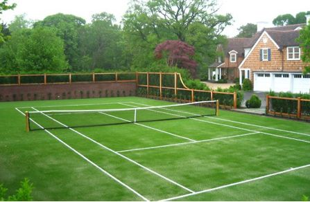 grass tennis court=amazing