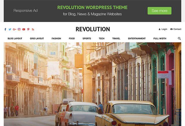 Download Revolution WordPress Theme - happythemes