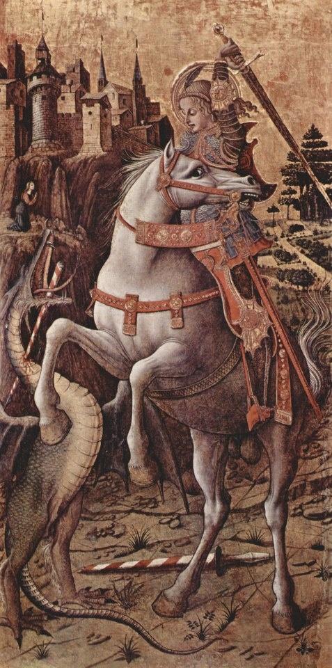 Sant Jordi i el   drac. CRIVELLI, Carlo, 1430/35, Veneza.