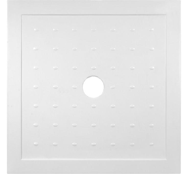99zł - #Tani i #solidny #brodzik kwadratowy, o wymiarach 80x80cm - wykonany z #trwałego #odlewu #mineralnego. #Deante