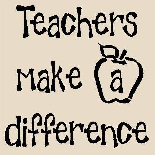 Teachers make a difference 12x12 vinyl wall art decals