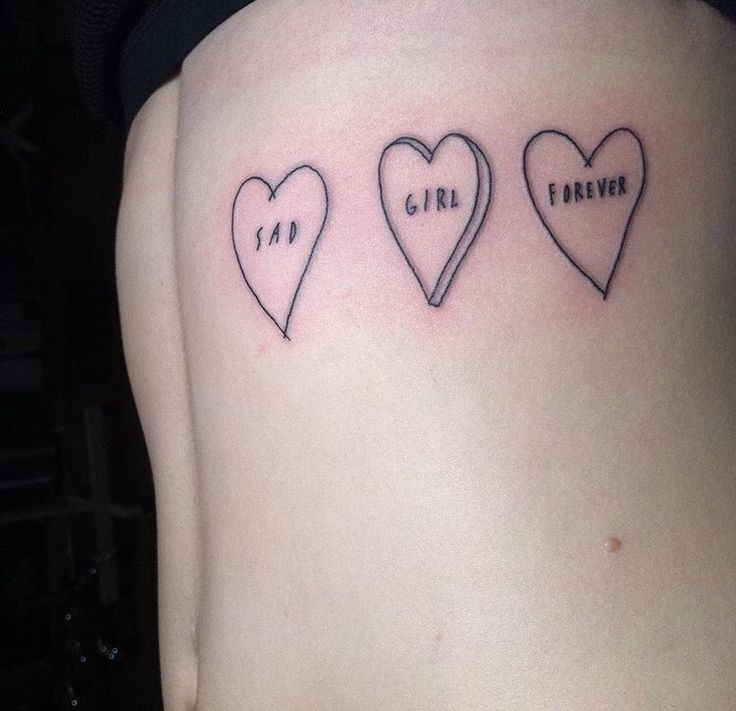 Sad Girl Forever Candy Heart Tattoo By Sean From Texas