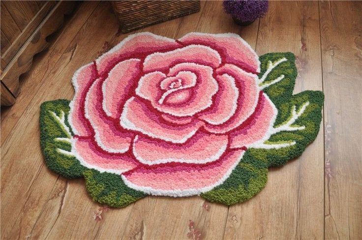 Country Style Victorian Pink Rose Living Bedroom Floor Mat Rug Runner Carpet A in Home & Garden, Rugs & Carpets, Door Mats & Floor Mats   eBay
