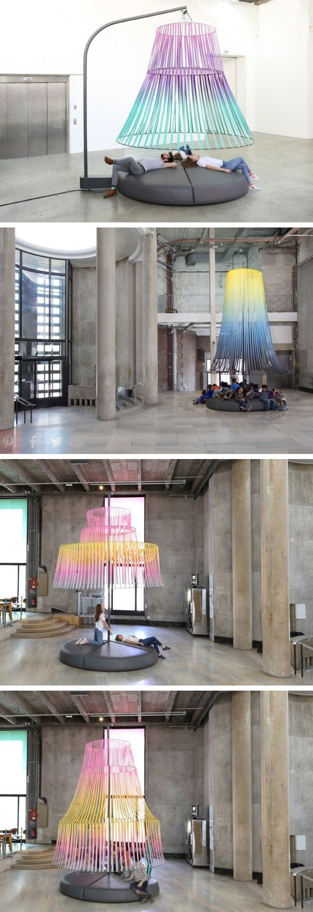 Constance Guisset designed a collection of seating named Three Conversations for Palais de Tokyo.