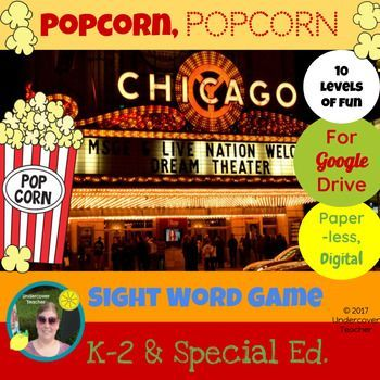 This is the digital, paperless version of Popcorn, Popcorn Sight Word Game for Google Drive/Docs. Great for K-2 readers who use a tablet or Chrome book with access to Google Drive/Docs. Using this resource will require internet access for students or you can choose to print it, making it a paper