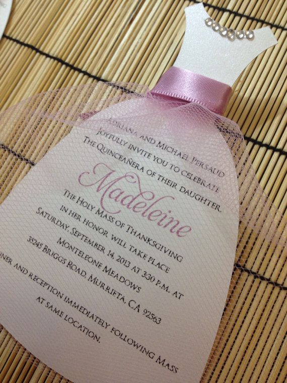 Quinceanera dress invitation wedding dress by anaderoux on Etsy, $3.00
