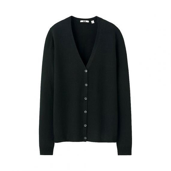 UniQlo - classic v-neck cardigan: merino wool