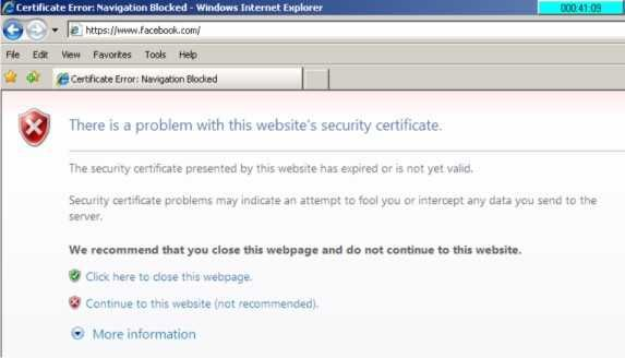 Cara atasi There is a problem with this website s security certificate