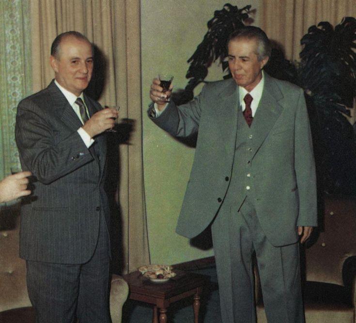 Enver Hoxha and Ramiz Alia.