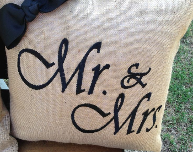 Mr. and Mrs. Burlap. If interested please contact me at kgill@airanpoy. Burlap PillowsCute IdeasDiy Crafts & 92 best Burlap Pillows by 2hartscreations images on Pinterest ... pillowsntoast.com