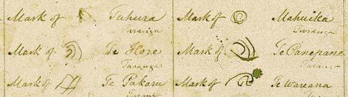 East Coast copy of the Treaty of Waitangi