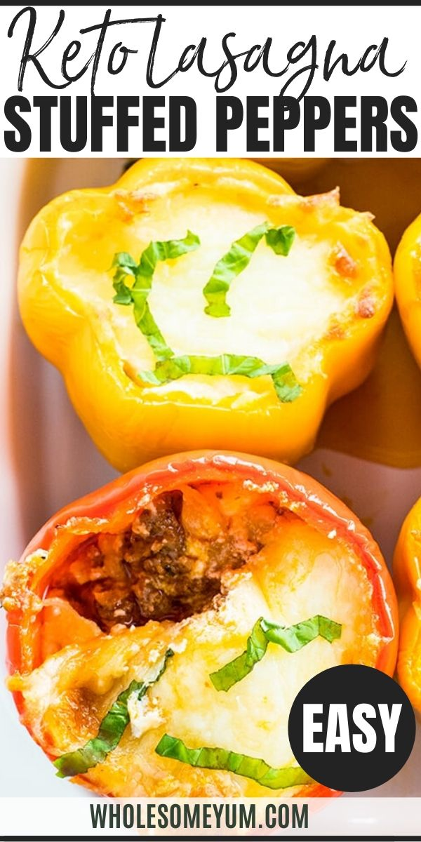 Low Carb Lasagna Stuffed Peppers Recipe Gluten Free 7 Ingredients In 2020 Lasagna Stuffed Peppers Stuffed Peppers Recipes