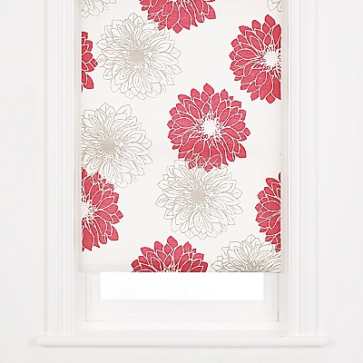 Buy John Lewis Gerbera Roller Blinds, Red online at JohnLewis.com - John Lewis
