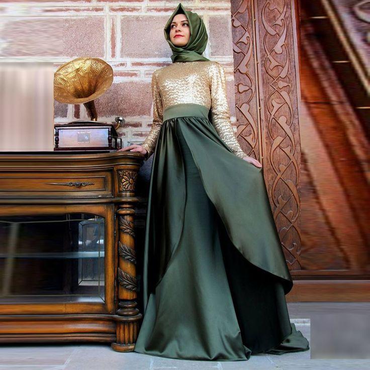 2015 caftán largo Dubai Kaftan musulmán Abayas árabe turco Sequioned noche Abayas para mujer ropa islámica Chape venta(China (Mainland))