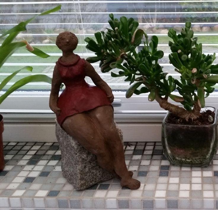 Dame i keramik fra 2014