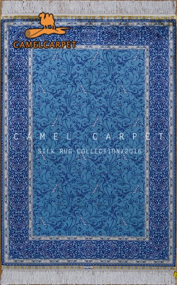 how to clean man made silk carpet