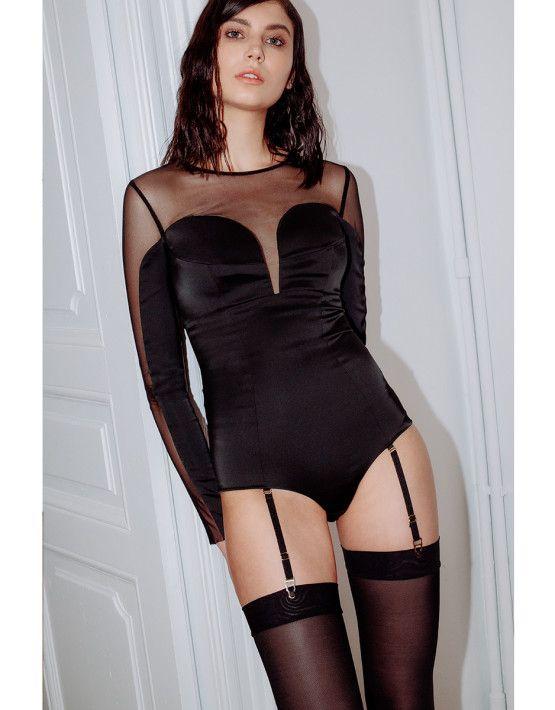 Volt Bodysuit Hold-Up Stockings