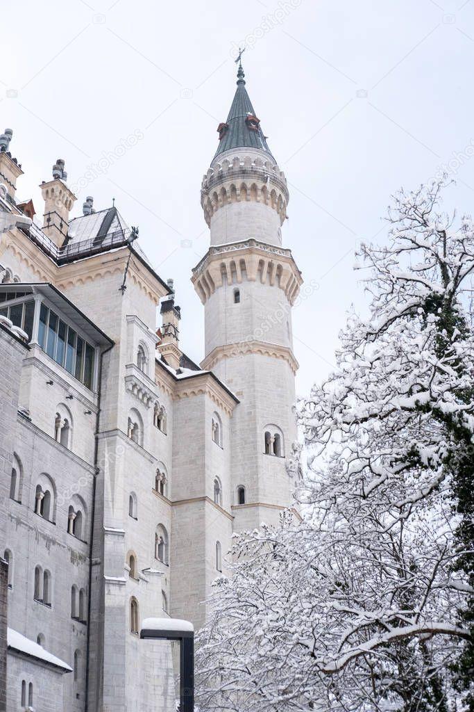 Neuschwanstein Castle Winter Landscape Nineteenth Century Romanesque Revival Pal Affiliate Winter Landscape Schloss Neuschwanstein Neuschwanstein Winter