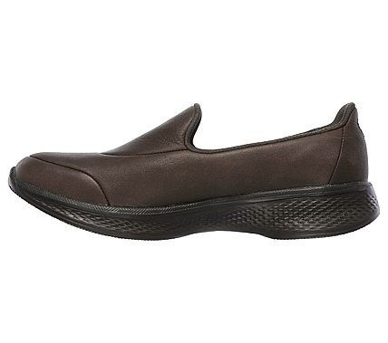 Skechers Women's GOwalk 4 Desired Slip On Sneakers (Chocolate)