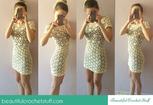 White Lace Crochet Dress Photo Tutorial + Diagrams - maybe not so short for me, but very cute!