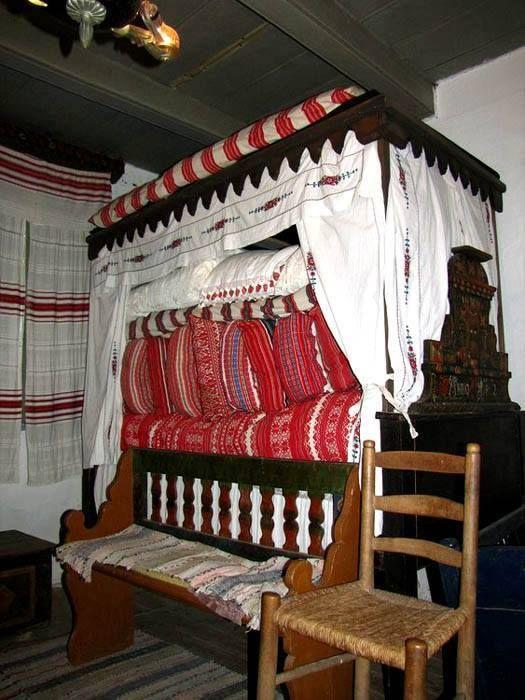 Tisztaszoba - Sárközi vetett ágy - Őcsény - Dunántúl