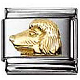 Nomination Poodle charm, Gold Relief