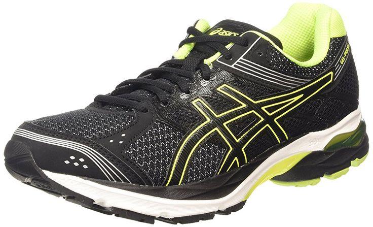 ASICS - Gel-pulse 7, Zapatillas de Running Hombre, Negro (black/flash Yellow/silver 9007), 44 EU