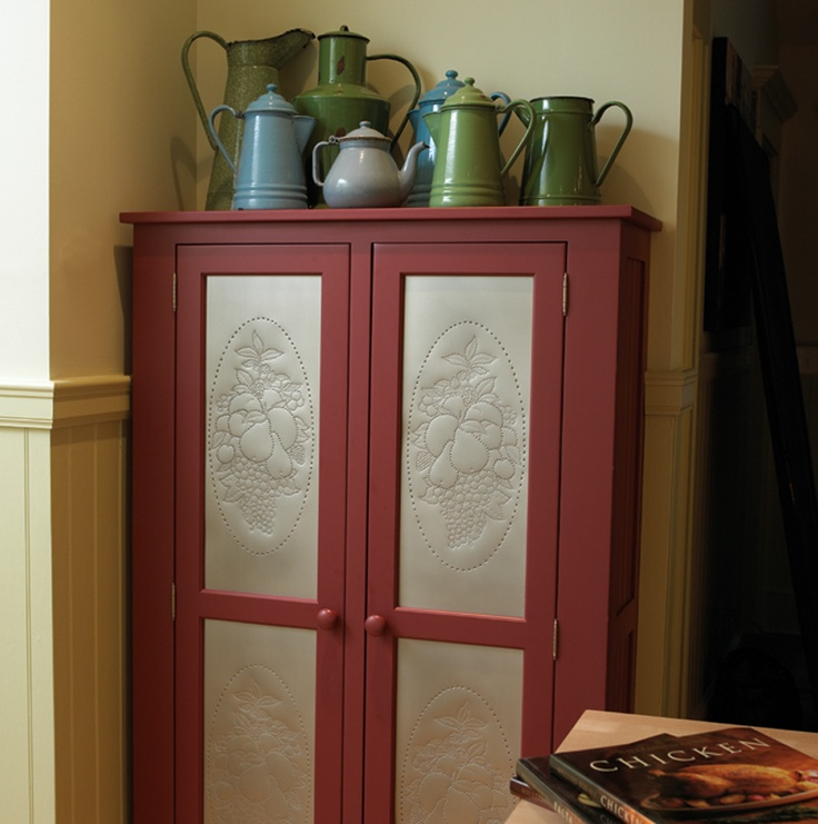 punched tin cabinet doors