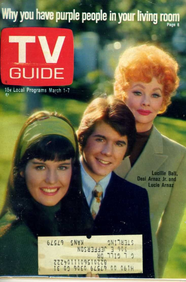 TV GUIDE-MARCH 1969 LUCILLE BALL, DESI ARNAZ JR. AND LUCIE ARNAZ COVER